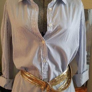 J.Crew classic striped top pullover and buttondown
